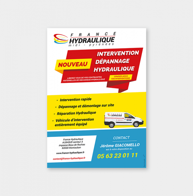 Flyer Intervention/Dépannage Hydraulique